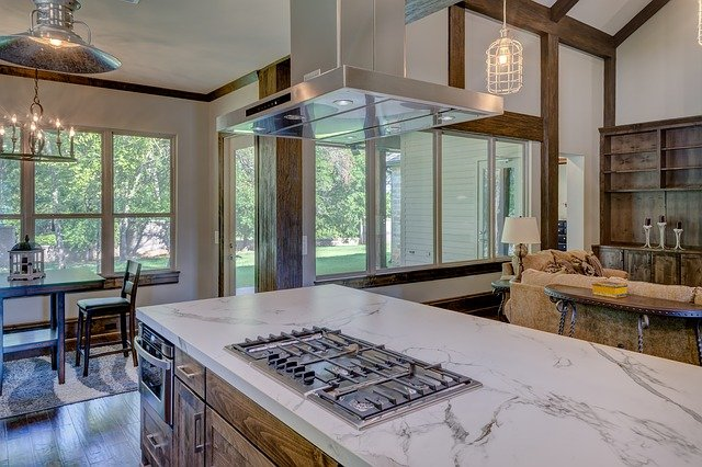 Kitchen Renovation Mississauga with modern granite countertop and open concept kitchen